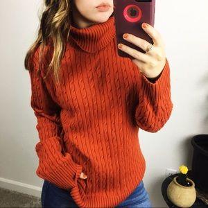 cozy orange fall sweater
